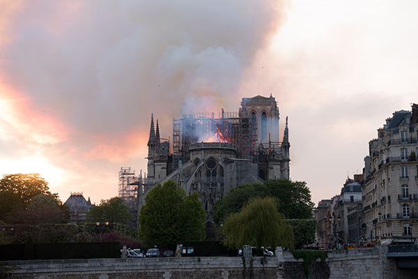Moon Expresses Words of Consolation for France Following Cathedral Fire