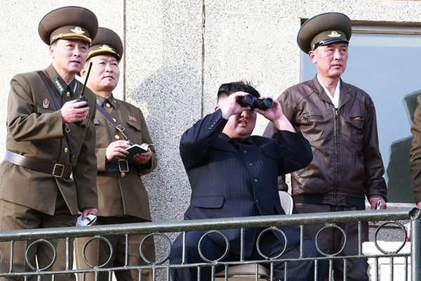 KCNA: Kim Jong-un Supervises Test of New Tactical Guided Weapon