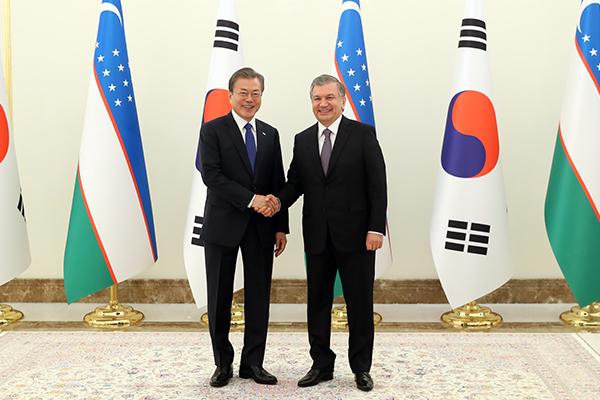 Hubungan Korsel-Uzbekistan Ditingkatkan ke Hubungan Kemitraan Strategis Khusus