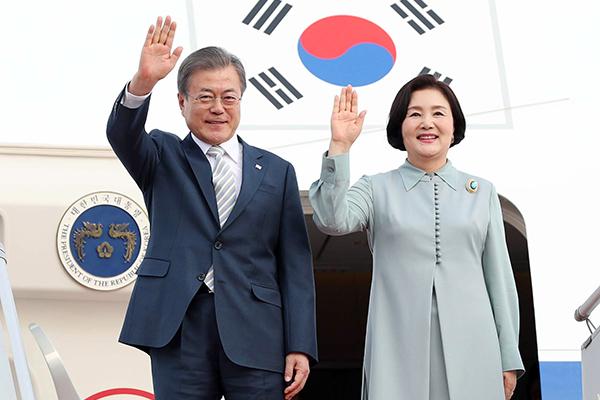 الرئيس الكوري يأمل في فتح عهد جديد لطريق الحرير