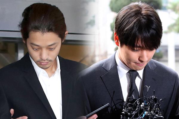 검찰, '집단 성폭행 혐의' 가수 정준영·최종훈에 징역 7년·5년 구형