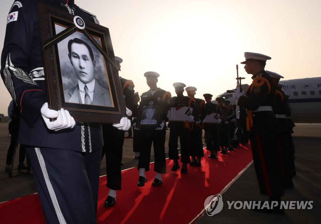 Останки двух борцов за независимость Кореи захоронены на родине