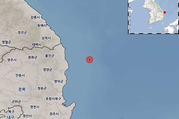 3.8 Magnitude Earthquake Strikes in Waters Off Uljin County