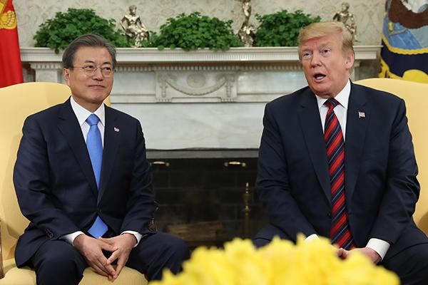 韓国大統領府「トランプ大統領のメッセージは南北首脳会談で伝える」