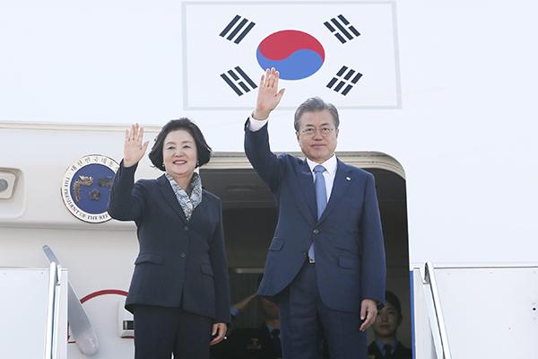 Moon Jae-in rentre aujourd'hui après une tournée en Asie centrale