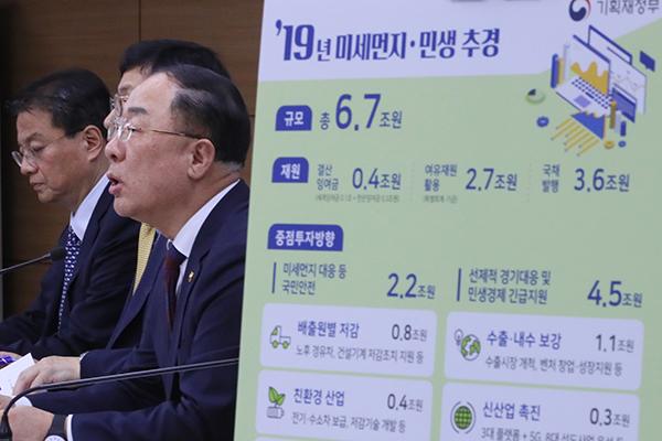 韩政府编排6.7万亿韩元追加预算