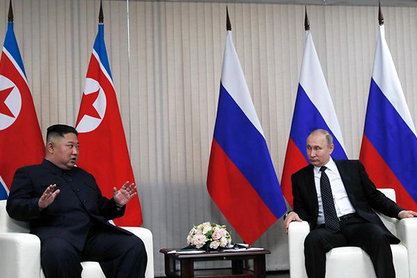 朝ロ首脳会談始まる 非核化・経済協力議論か