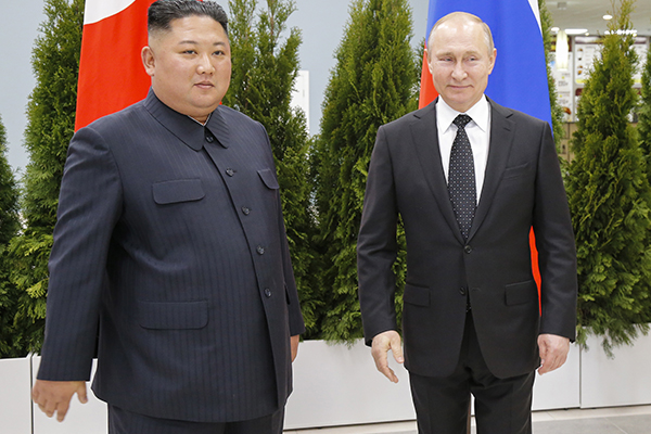 Putin Makes Early Appearance for Summit with Kim