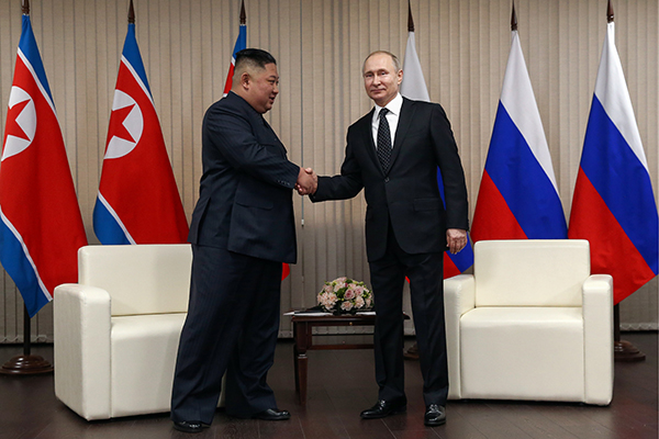N. Korea Creates New Pressure on US via Kim-Putin Talks