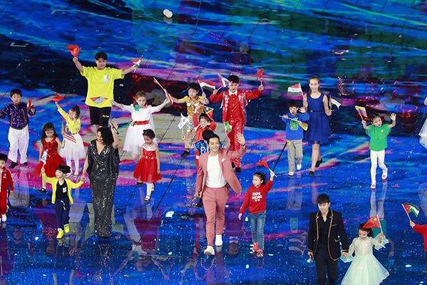 Penyanyi 'Rain' Tampil pada Pementasan Raksasa di China