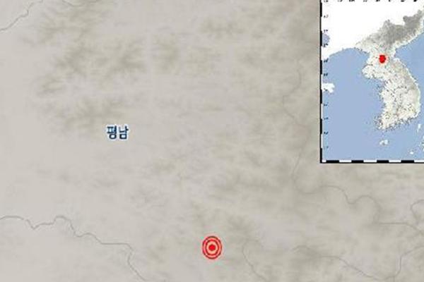 """기상청 """"북한 평남 양덕 서남서쪽 규모 3.3 지진"""""""