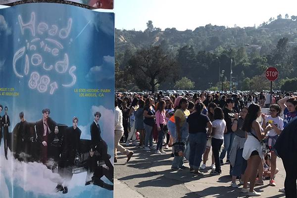 BTS, 뉴욕 센트럴파크서 화려한 공연…'1주일 전부터 노숙 팬심' 화제