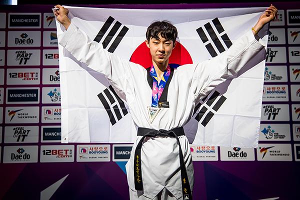 Corea del Sur gana tres oros en el Mundial de Taekwondo Manchester 2019