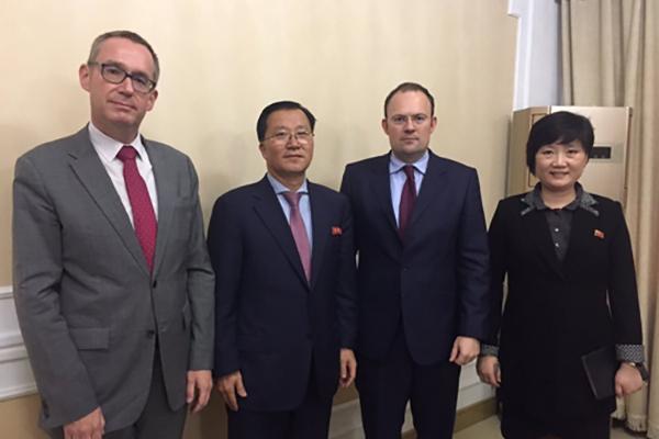 英外務省北東アジア局長が平壌入り 北韓外務省関係者らと接触