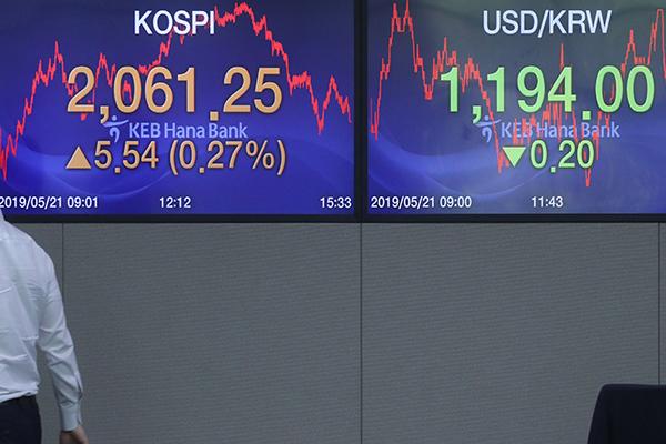 5月21日主要外汇牌价和韩国综合股价指数