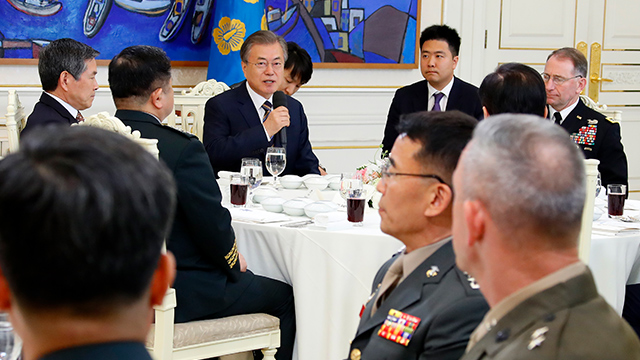 Moon Praises S. Korea-US Restrained Response to N. Korean Missile Launches