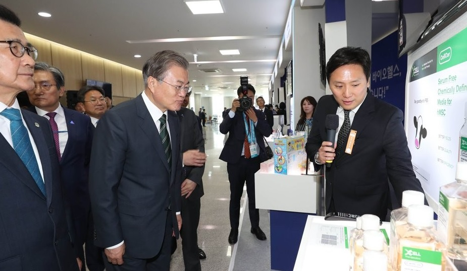 Moon Vows to Help Bio-Heath Industry Become New Growth Engine