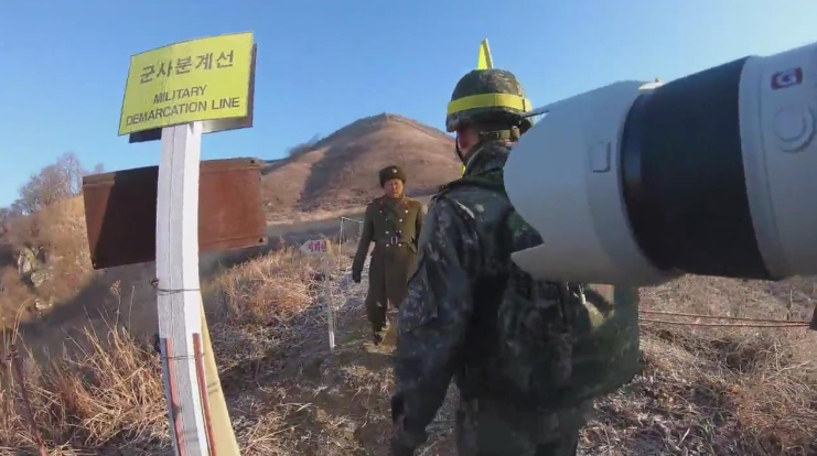 南北军人共同检查拆除哨所现场视频首公开