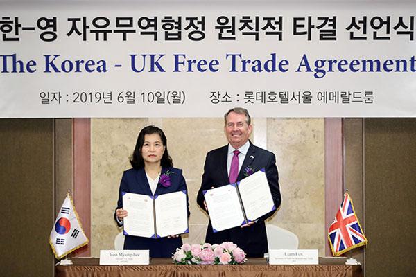 Seoul, London Establish Post-Brexit FTA