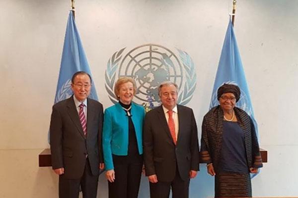 潘基文氏 国連事務総長に韓半島の平和に向けた支持を要請