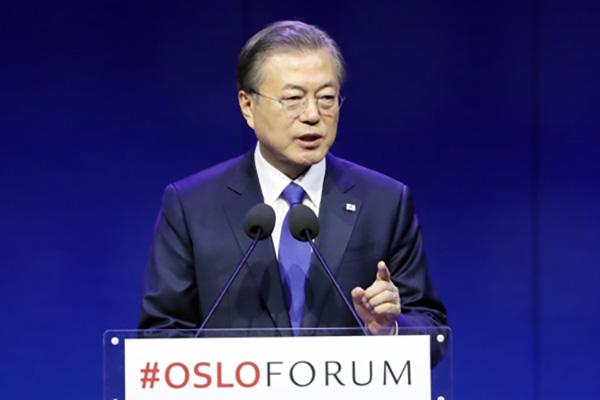 Moon Vows to Create Peace via Oslo Initiative