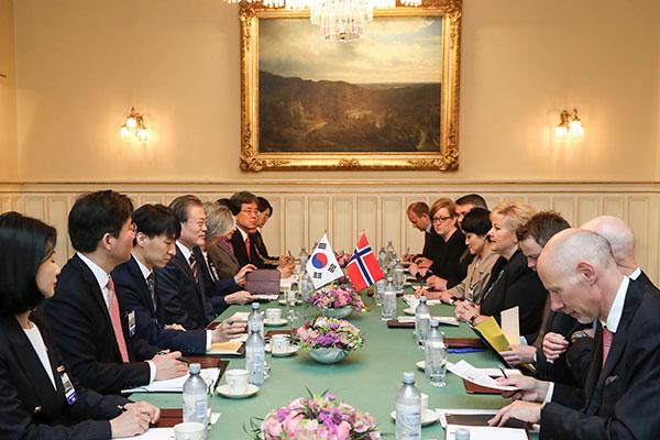 한-노르웨이 정상회담…미래선박·수소에너지 협력 논의