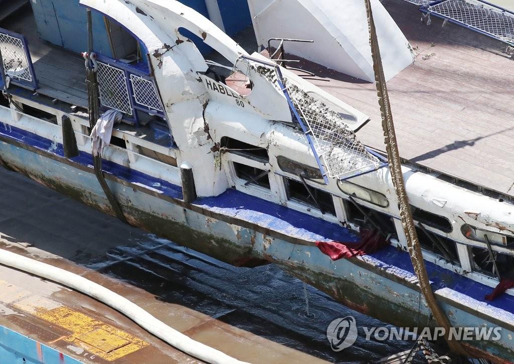 한국 구조당국 허블레아니 선체 수색…실종자 못찾아