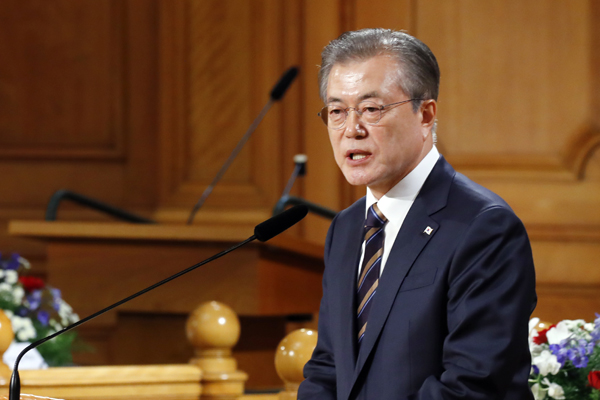 Moon Urges N. Korea to Follow Footsteps of Swedish Disarmament