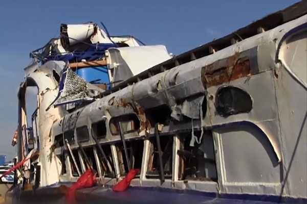 Спасатели завершили осмотр затонувшего судна Hableany