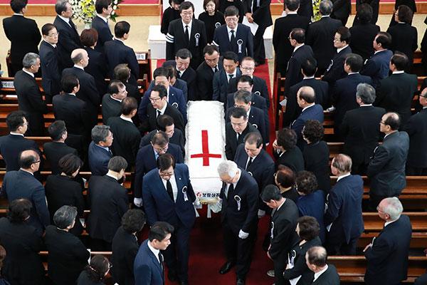 已故李姬镐女士悼念仪式14日在国立显忠院举行