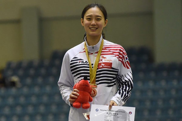 Championnats d'Asie d'escrime : Yoon Ji-su remporte la médaille d'or