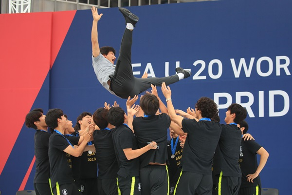 S. Korean U-20 Men's National Football Team Receives Warm Welcome
