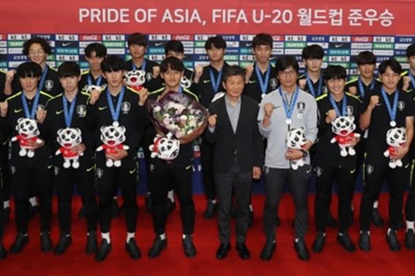 Tim U-20 Korsel Telah Kembali ke Korsel dan Diterima dengan Hangat