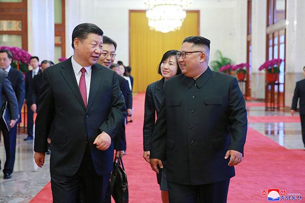 """북·중 정상회담 …중국, """"한반도 문제의 정치적 해결에 새로운 기회 만들것"""""""