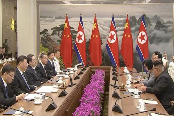 Kim Jong Un y Xi Jinping enfatizan el rol de China ante la desnuclearización
