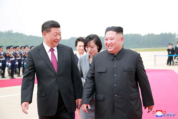 KCNA: Kim und Xi einigen sich auf Ausbau der bilateralen Beziehungen