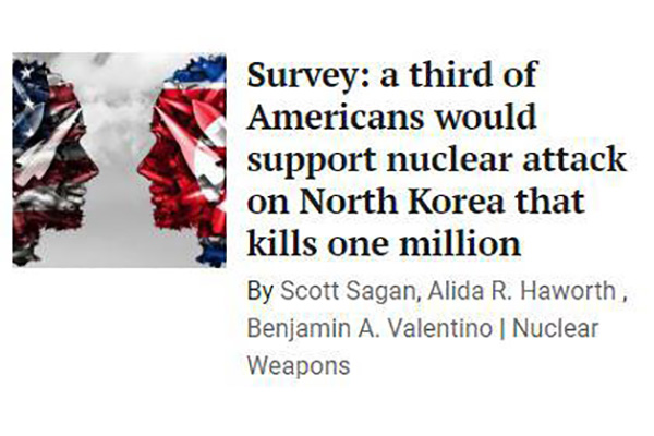 Survey: 1/3 Americans Support Preemptive Attack on N. Korea