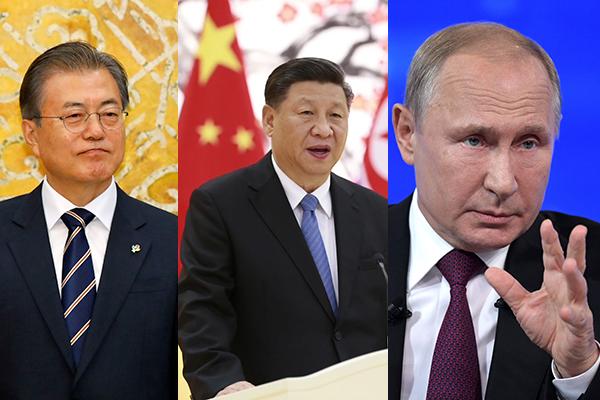 مون يعقد قمة مع الرئيس الصيني والرئيس الروسي هذا الأسبوع