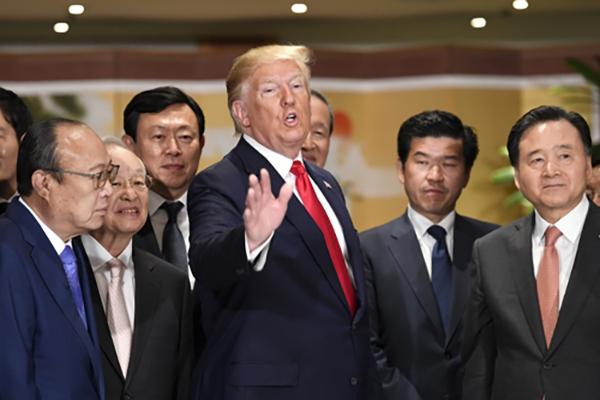 Президент США Дональд Трамп встретился с представителями деловых кругов РК