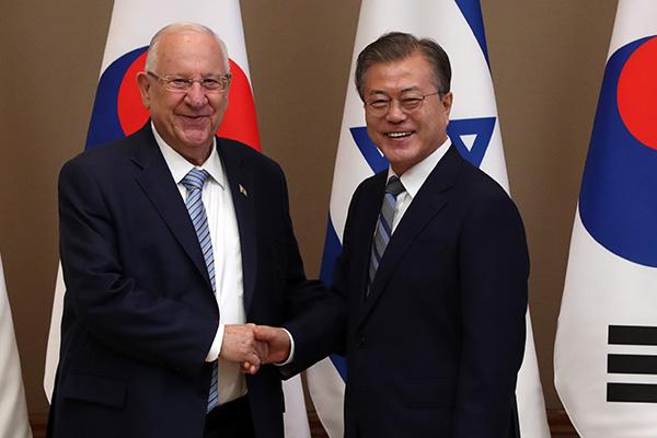 Sommet entre les présidents sud-coréen et israélien à Séoul