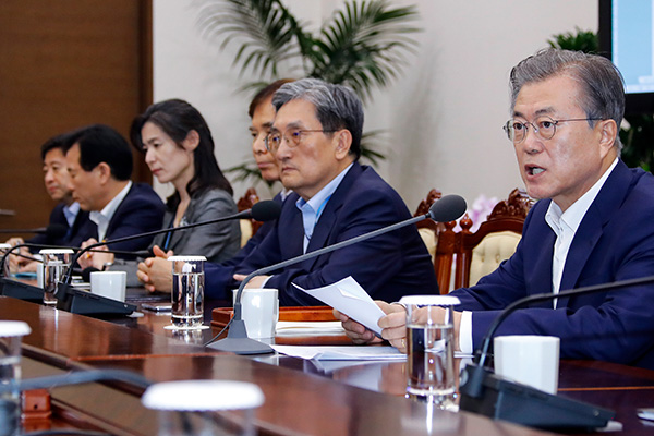 President Moon Urges Japan to Stop Unilateral Export Pressure Campaign
