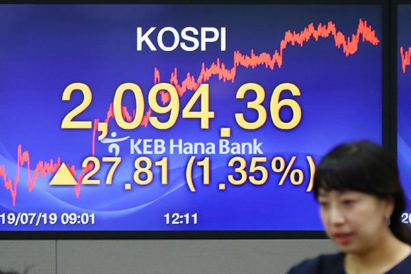 7月19日主要外汇牌价和韩国综合股价指数