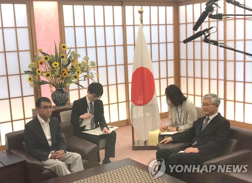 日本外相 駐日韓国大使呼んで仲裁委員会設置めぐって抗議
