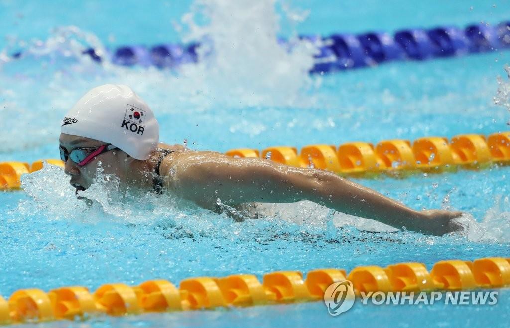 -광주세계수영- 여자 계영 400m서 대회 첫 한국신기록 '3분42초58'