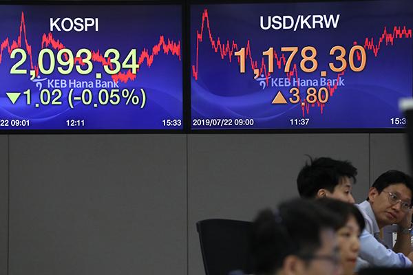 7月22日主要外汇牌价和韩国综合股价指数