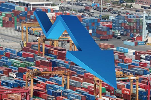 Südkorea mit stärkstem Exportrückgang unter zehn führenden Exporteuren