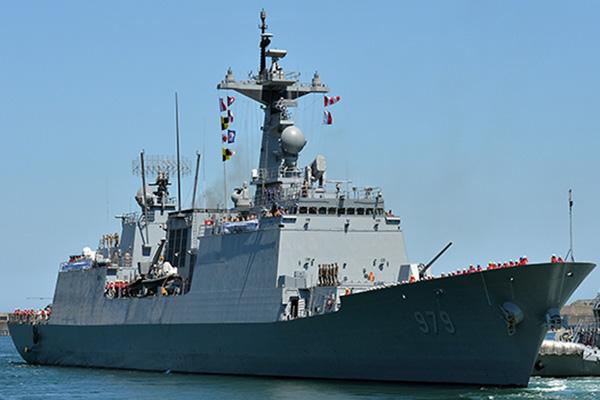 Le destroyer Gang Gam-chan prend la mer pour le golfe d'Aden
