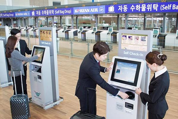 زيادة استعمال خدمات الفحص الذاتي في مطارات كوريا الجنوبية