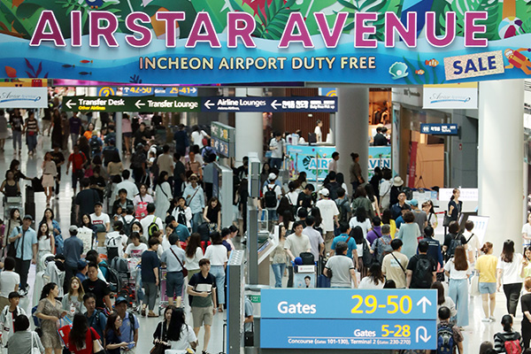 Incheon Int'l Airport Surpasses 700 Mln Milestone for Number of Cumulative Passengers