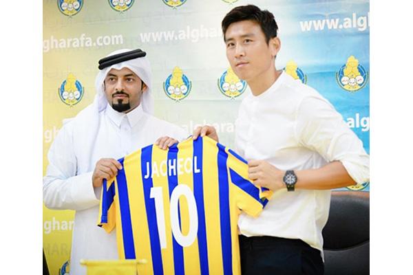 نادي الغرافة القطري يقدم لاعبه الجديد الكوري كو جا تشول